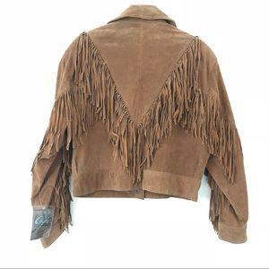 Leather Fringe Tassel Festival Coat Jacket GIII